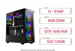 PC QA Gaming 11 Intel Core I3 9100F Ram 8GB GTX 1650 4GB SDD 120GB