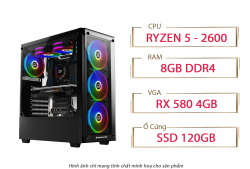 PC QA Gaming 14 AMD Ryzen 5 2600 RX 580 4GB Ram 8GB 120GB SSD