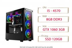 PC QA Gaming 21 Intel Core i5 4570 1060 3GB Ram 8GB 120GB SSD