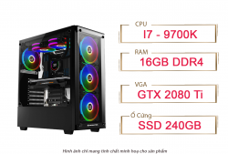 PC QA Gaming Intel Core I7 9700K GTX 2080 11GB Ram 32GB 240GB SSD
